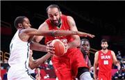 شکست بسکتبال ایران از آمریکا با اختلاف ۵۴ امتیازی